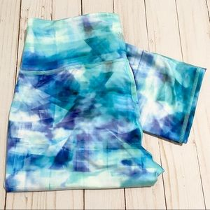 ATHLETA Abstract Tye Dye Leggings Size Medium